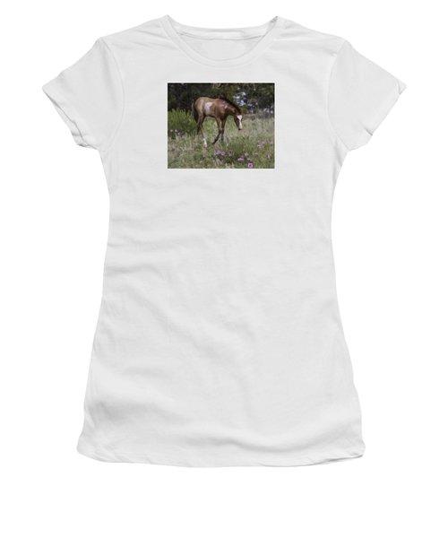 Morning Glory Women's T-Shirt (Junior Cut) by Elizabeth Eldridge