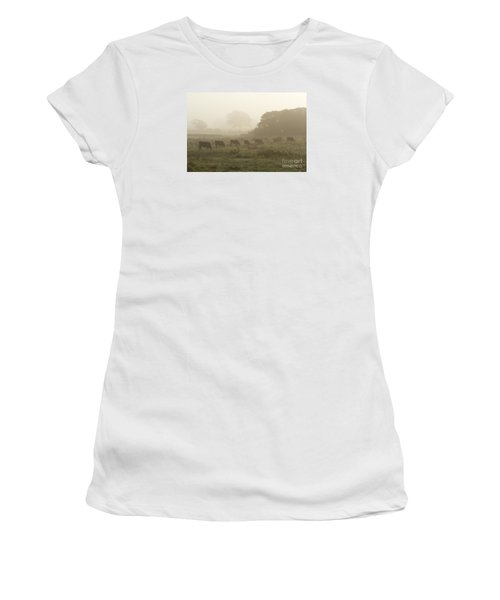 Morning Graze Women's T-Shirt (Junior Cut) by Gary Bridger