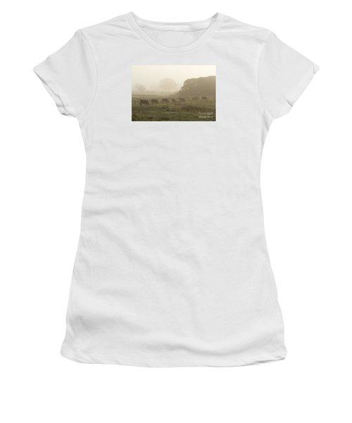 Women's T-Shirt (Junior Cut) featuring the photograph Morning Graze by Gary Bridger