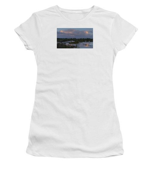 Morning Reflections Over The Wetlands Women's T-Shirt