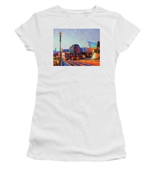 Morning Rush - The Corner Of Salem Avenue And Williamson Road In Roanoke Virginia Women's T-Shirt (Junior Cut) by Bonnie Mason