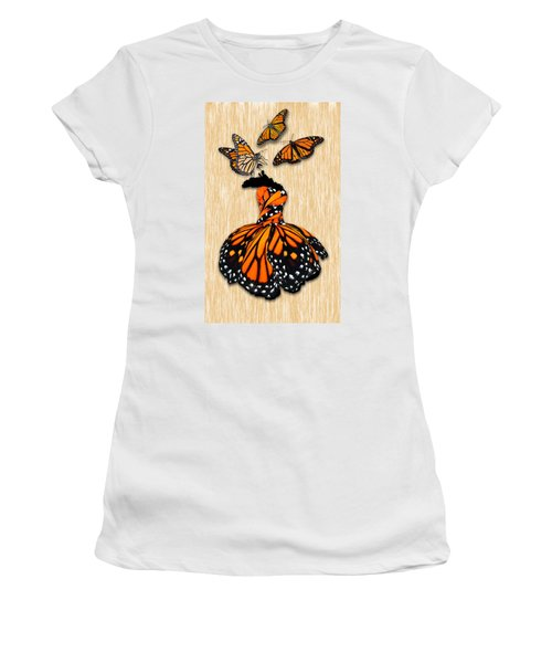 Women's T-Shirt (Athletic Fit) featuring the mixed media Morphing by Marvin Blaine