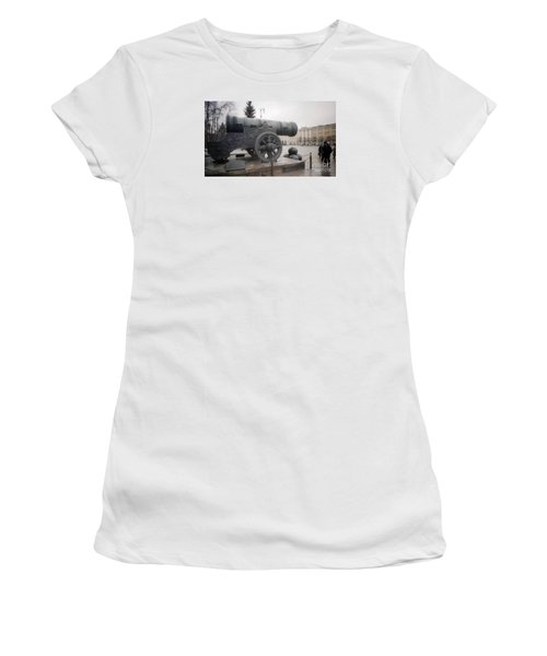 Moscow Cannon Relic Women's T-Shirt (Junior Cut) by Ted Pollard