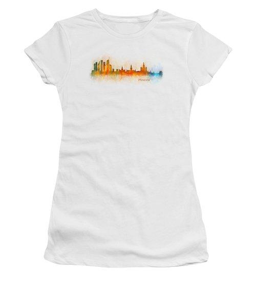 Moscow City Skyline Hq V3 Women's T-Shirt (Junior Cut) by HQ Photo