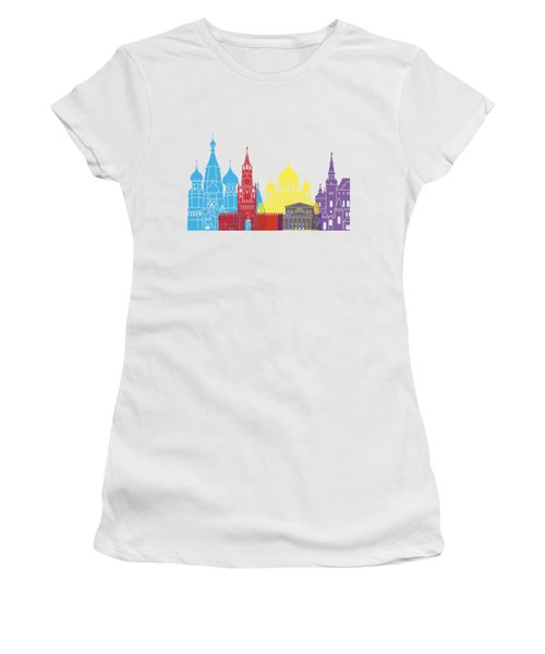 Moscow Skyline Pop Women's T-Shirt (Athletic Fit)