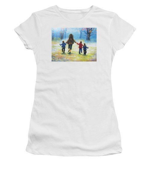 Mother And Three Sons  Women's T-Shirt