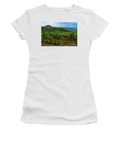 Motovun And Vineyards - Istrian Hill Town, Croatia Women's T-Shirt