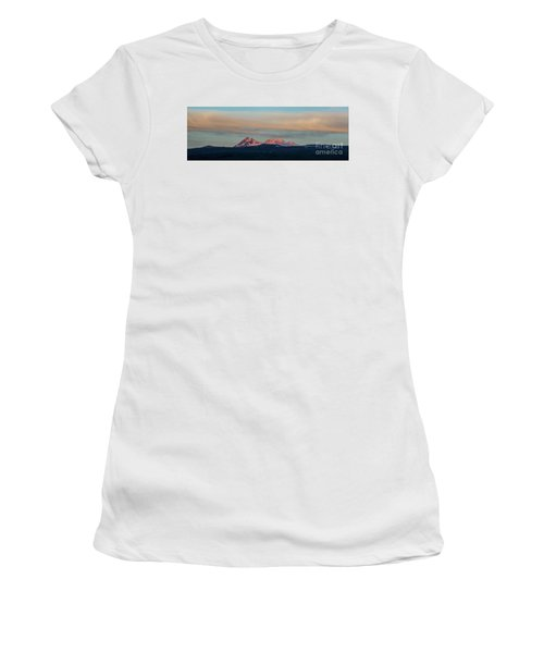 Mount Aragats, The Highest Mountain Of Armenia, At Sunset Under Beautiful Clouds Women's T-Shirt (Athletic Fit)