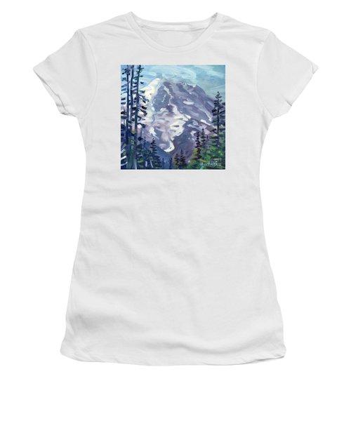 Mount Rainier From Sunrise Point Women's T-Shirt (Junior Cut) by Donald Maier