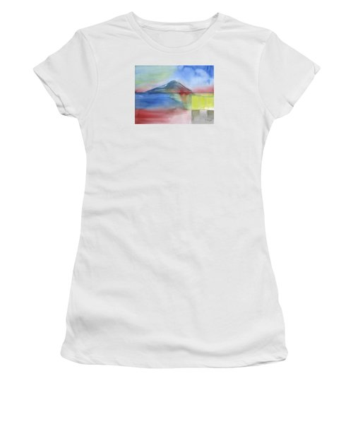 Women's T-Shirt (Junior Cut) featuring the painting Just Before The Rain by Frank Bright