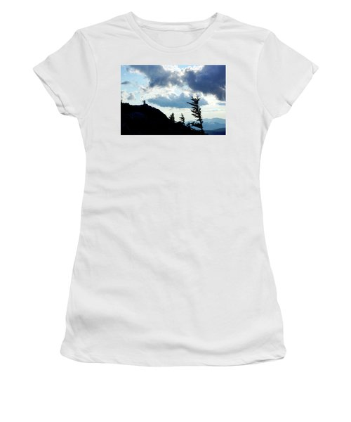 Mountain Peak Silhouette Women's T-Shirt (Athletic Fit)