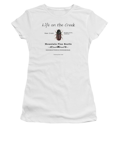 Mountain Pine Beetle Color Women's T-Shirt (Athletic Fit)