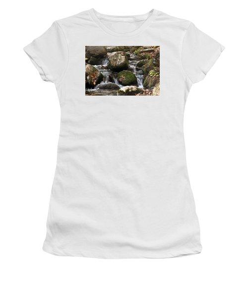 Mountain Stream Through Rocks Women's T-Shirt