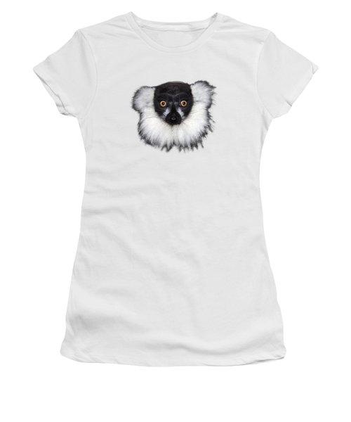 Mr Lemur On Transparent Background Women's T-Shirt (Junior Cut) by Terri Waters