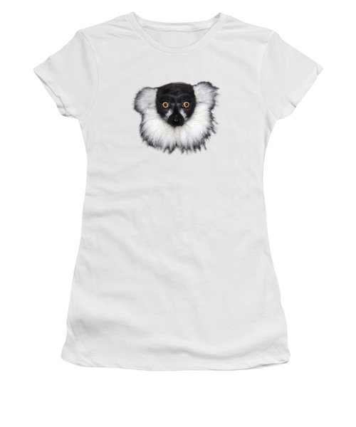 Mr Lemur On Transparent Background Women's T-Shirt (Athletic Fit)
