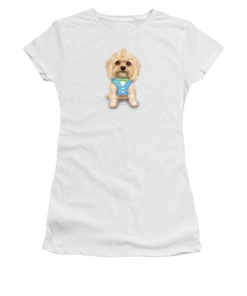 Mr.toby Waffles Women's T-Shirt (Junior Cut) by Catia Cho
