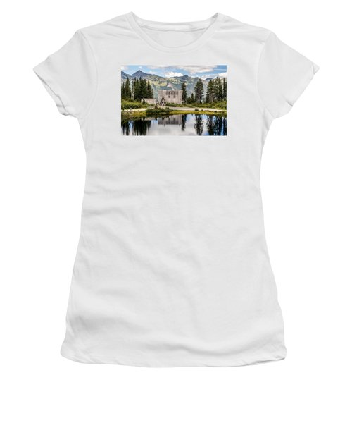 Mt Baker Lodge In Picture Lake 1 Women's T-Shirt