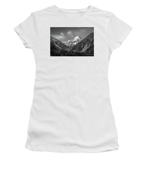 Mt Cook Wilderness Women's T-Shirt (Junior Cut) by Racheal Christian