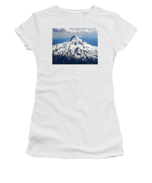 Mt. Hood From 10,000 Feet Women's T-Shirt (Athletic Fit)