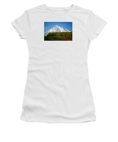 Mt Hood In Winter Women's T-Shirt (Athletic Fit)