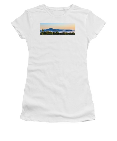 Mt. Jefferson Cloud Lake Women's T-Shirt (Junior Cut) by Dale R Carlson