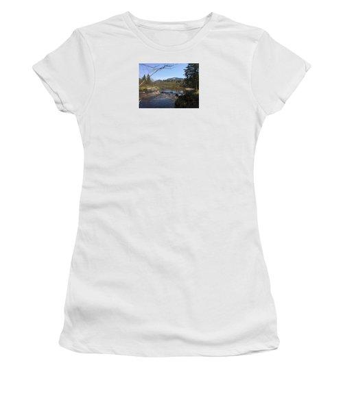 Women's T-Shirt (Junior Cut) featuring the photograph Mt. Katahdin by Robin Regan