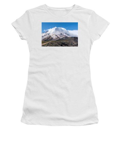 Mt Rainier In The Clouds Women's T-Shirt