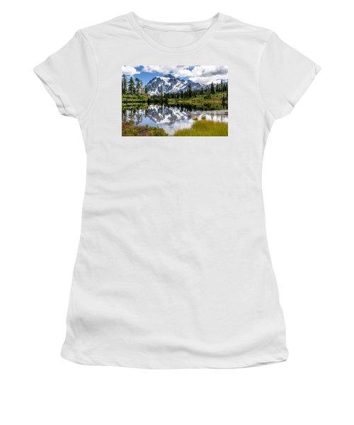 Mt Shuksan On Picture Lake 1 Women's T-Shirt