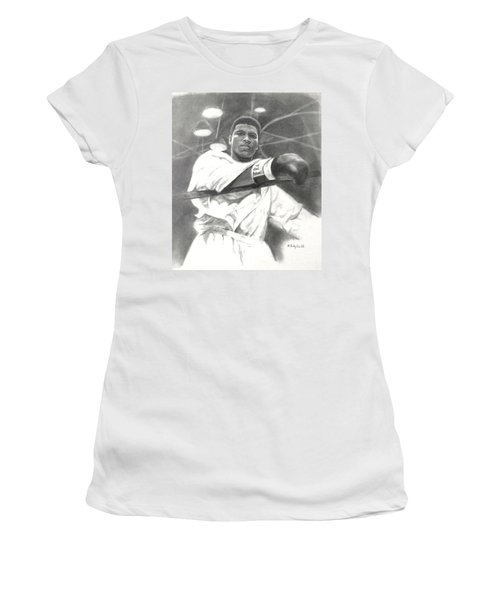 Young Cassius Clay Women's T-Shirt (Junior Cut) by Noe Peralez