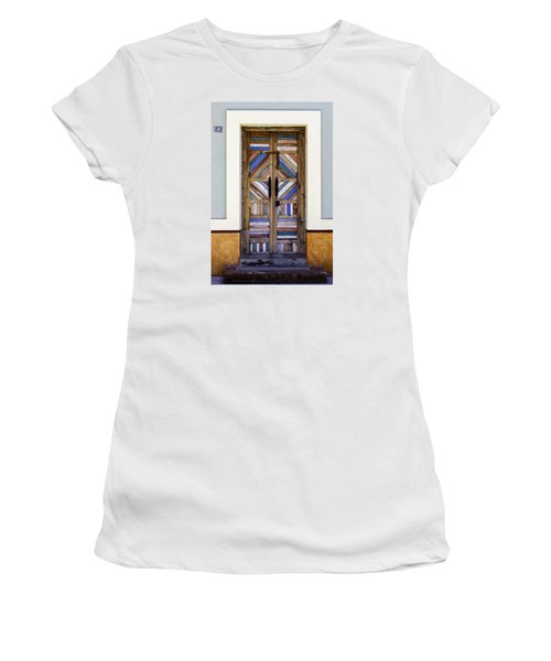 Multicolored Door Women's T-Shirt (Athletic Fit)
