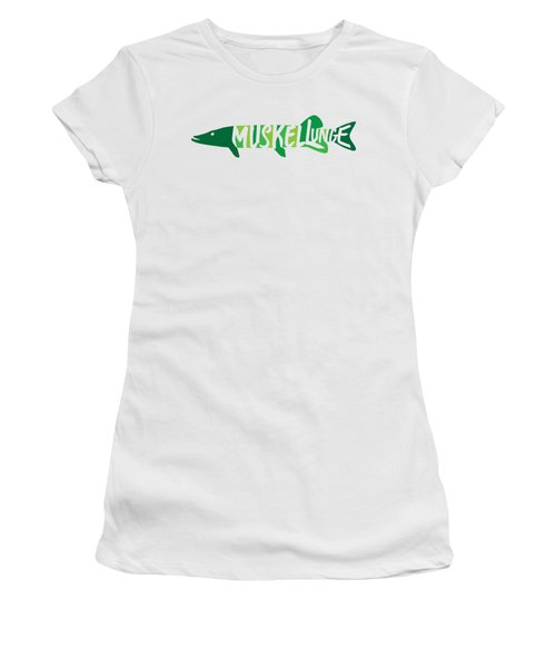 Multicolored Muskellunge Women's T-Shirt (Athletic Fit)