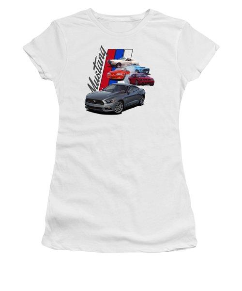Mustang Through The Years Women's T-Shirt
