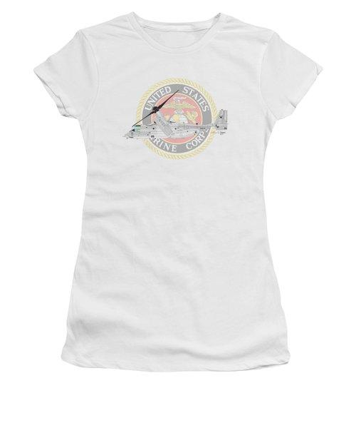 Mv-22bvmm-261 Women's T-Shirt (Junior Cut) by Arthur Eggers