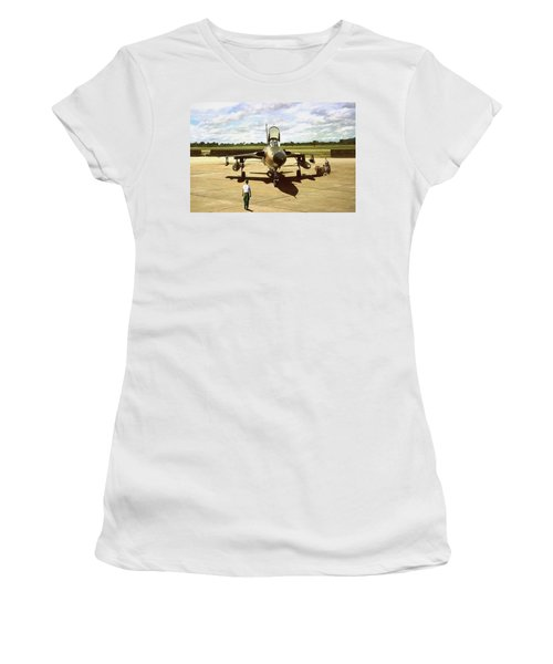 My Baby F-105 Women's T-Shirt (Junior Cut) by Peter Chilelli