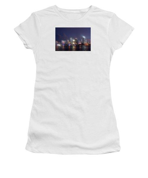 My City Skyline Women's T-Shirt (Athletic Fit)