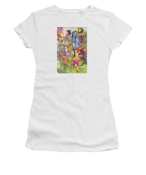 My Garden Women's T-Shirt (Junior Cut) by Claudia Cole Meek