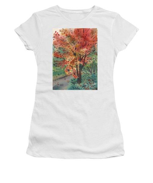 My Maple Tree Women's T-Shirt (Junior Cut) by Donald Maier