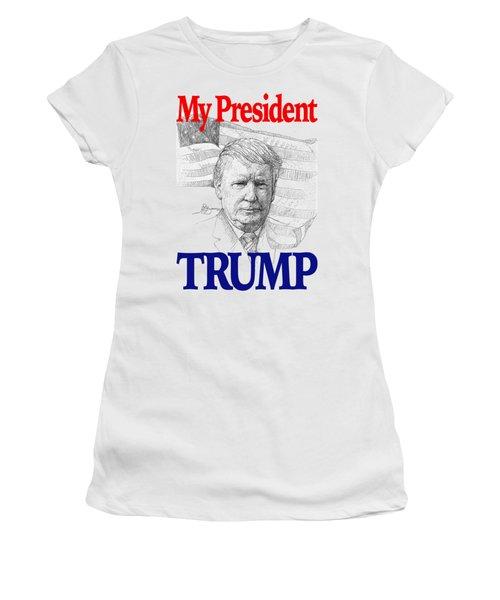 My President Trump Shirt Women's T-Shirt (Athletic Fit)