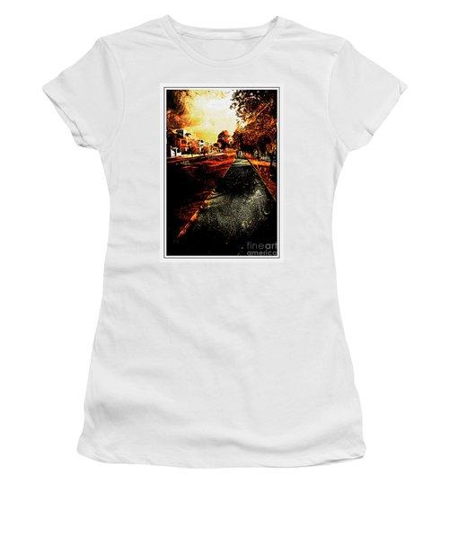 My Neighborhood Women's T-Shirt (Junior Cut) by Al Bourassa