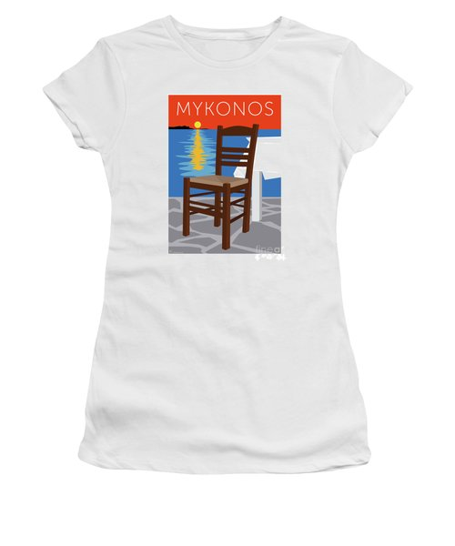 Mykonos Empty Chair - Orange Women's T-Shirt