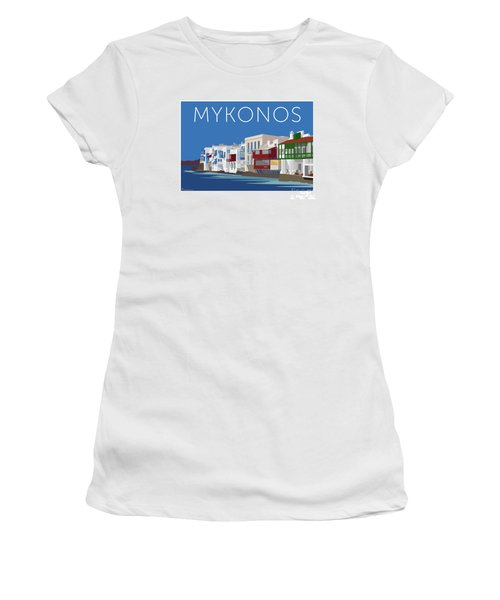 Mykonos Little Venice - Blue Women's T-Shirt