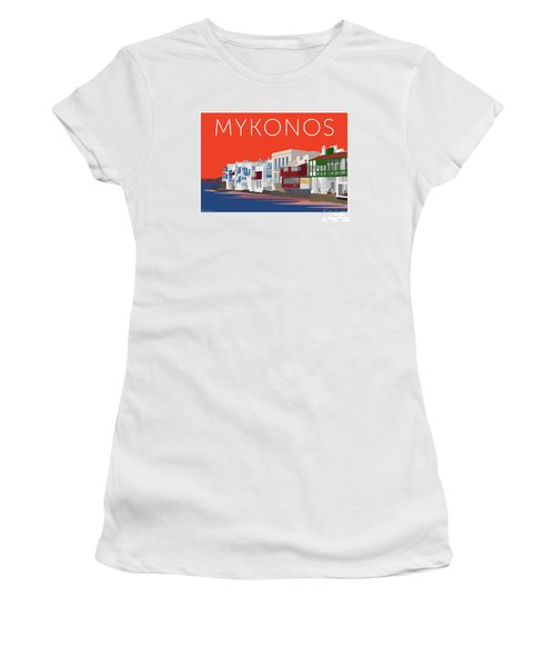 Mykonos Little Venice - Orange Women's T-Shirt