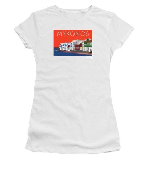 Mykonos Little Venice - Orange Women's T-Shirt