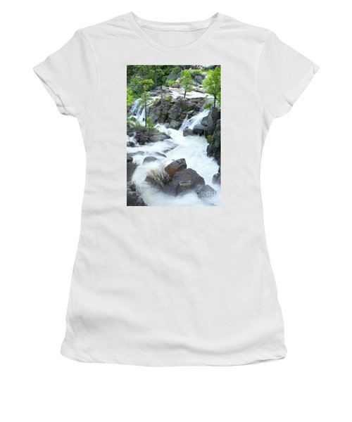 Mysterious Falls In Yosemite Women's T-Shirt (Athletic Fit)