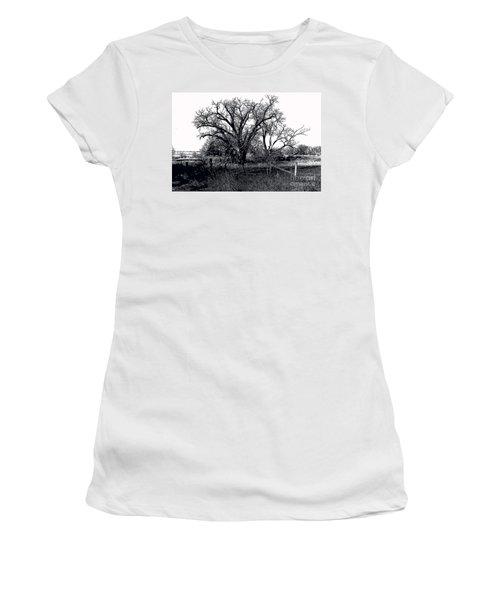 Naked Beauty Black And White Women's T-Shirt (Junior Cut) by Renie Rutten