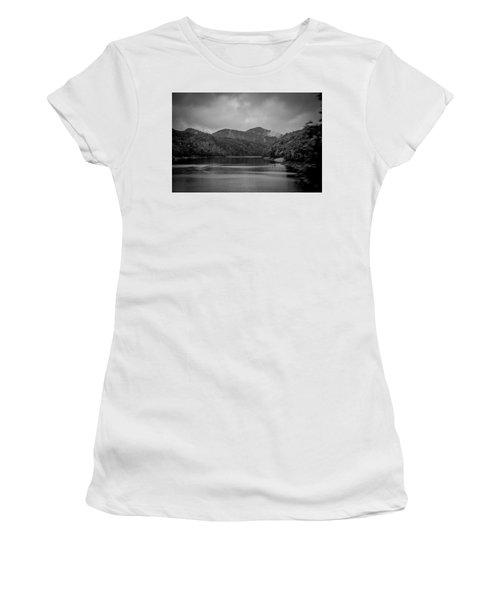 Nantahala River Great Smoky Mountains In Black And White Women's T-Shirt