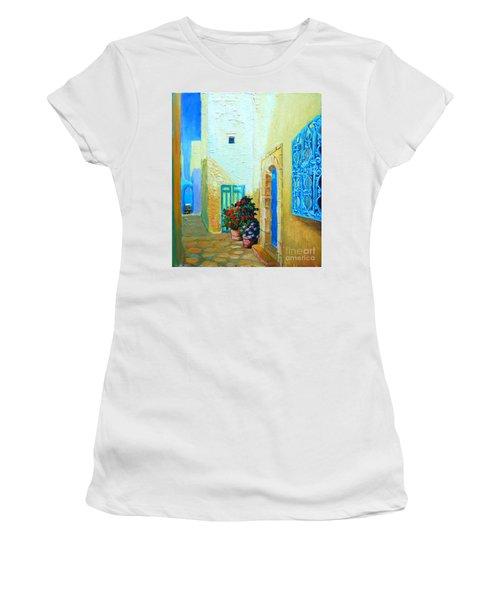 Narrow Street In Hammamet Women's T-Shirt
