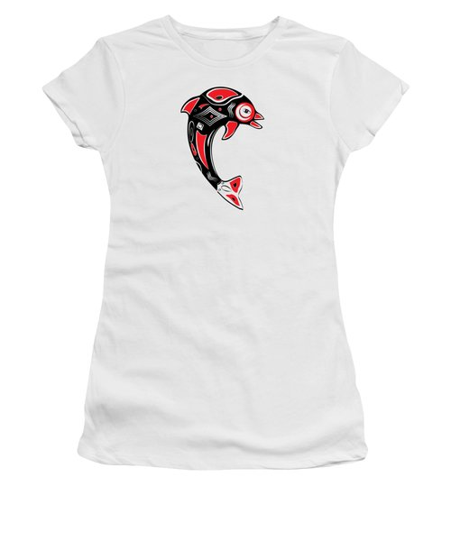 Native American Animal Dolphin Symbol Women's T-Shirt (Athletic Fit)