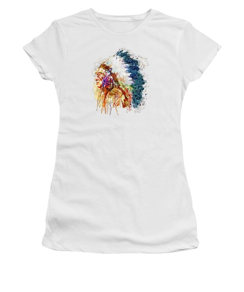 Native American Chief Side Face Women's T-Shirt