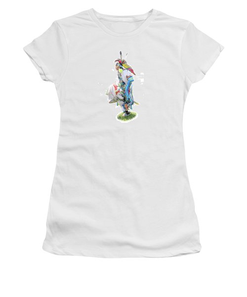 Native Pow Wow Dancer Women's T-Shirt (Athletic Fit)